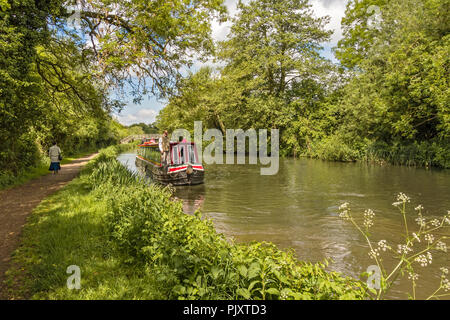 Boats On The Canal Berkshire UK - Stock Image