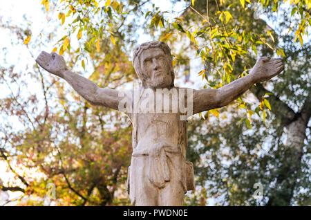 Statue of Jesus in Uzupis, Vilnius, Lithuania - Stock Image