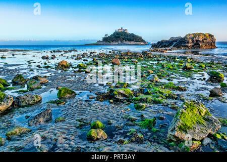 St Michael's Mount Marazion Cornwall UK - Stock Image