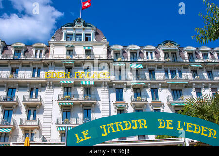 the town of Montreux - Stock Image