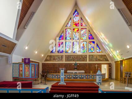 Hammerfest Church (1961) is the parish church for Hammerfest municipality in Finnmark County, Norway - Stock Image