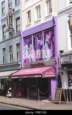 Sunset Strip Club Dean Street Soho London - Stock Image