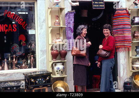 1979, sisters Traveling in Portugal, - Stock Image