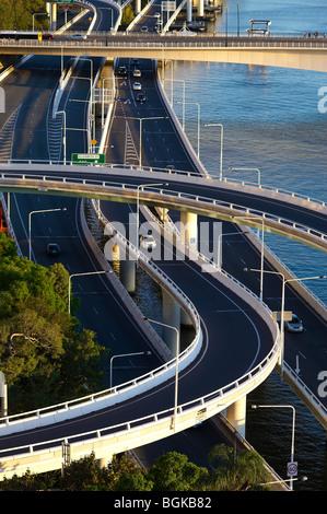 Brisbane Riverside Expressway Queensland Australia - Stock Image
