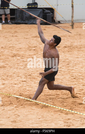 Palmas, Brazil. 27th Oct, 2015. International Indigenous Games, in the city of Palmas, Tocantins State, Brazil. - Stock Image