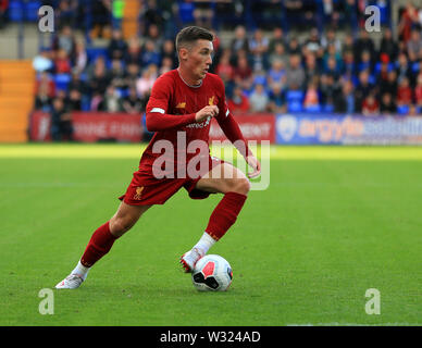 Birkenhead, Wirral, UK. 11th July 2019; Prenton Park, Tranmere, England; Pre-season friendly football, Tranmere versus Liverpool; Harry Wilson of Liverpool runs with ball Credit: Action Plus Sports Images/Alamy Live News - Stock Image