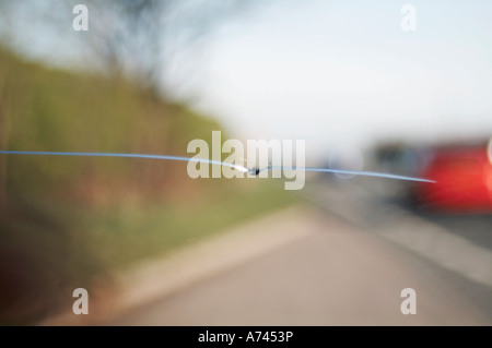 crack on  car  windscreen - Stock Image