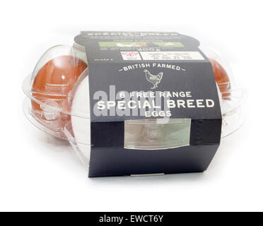 Marks and Spencer Special Breed Free Range Eggs - Stock Image