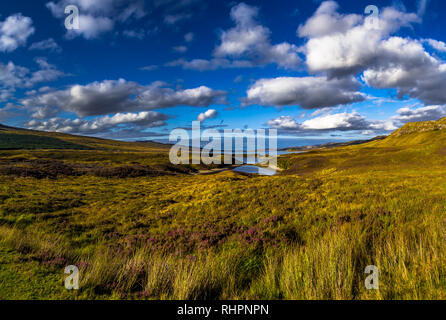 Rural Landscape At Loch Eriboll Near Durness In Scotland - Stock Image