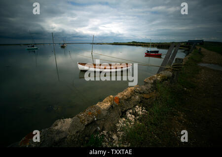 anthropogenic,climate,change,global,warming,sea,level,rise,Newtown,Nature,Reserve,Isle of Wight,England,UK, - Stock Image