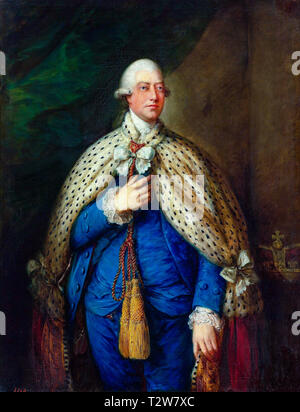 Thomas Gainsborough, Portrait of King George III of the United Kingdom in parliamentary robes, 1785 - Stock Image