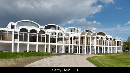 The main entrance to the Royal Air Force Museum at Hendon, UK - Stock Image