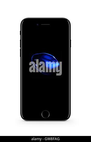 Smart phone iphone 7, digitally generated artwork. - Stock Image