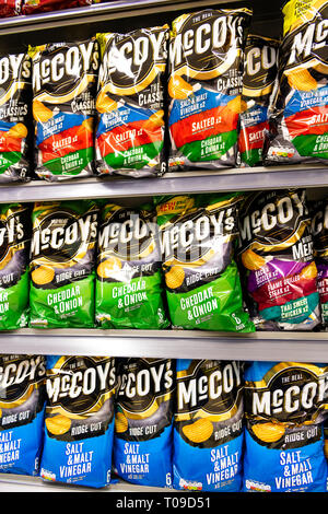 McCoy's crisps for sale in a supermarket, UK. - Stock Image
