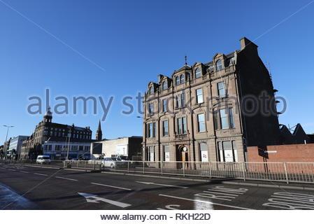 DP&L Maritime building during refurbishment works Dundee Scotland  January 2019 - Stock Image