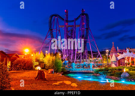 Sochi, Russia - May 30. 2018. Sochi Park, which entered TOP-25 of best parks in Europe in 2016 - Stock Image