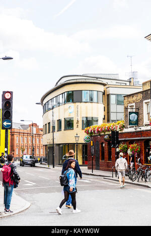 Open University building on Hawley Crescent in Camden Town, England, The Open University building Camden London, - Stock Image