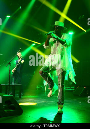 Sting and Shaggy performing at The Roundhouse in London at their 44/876 UK Tour opening night. - Stock Image
