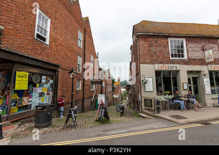 Conduit Hill and High St in Rye, East Sussex, England, UK - Stock Image