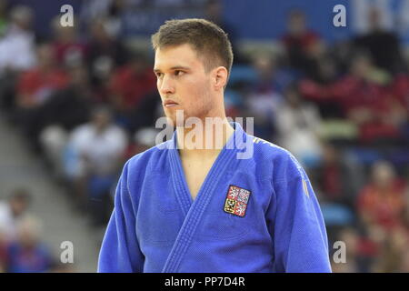 Baku, Azerbaijan. 24th Sep, 2018. Czech judoka Jiri Petr is seen during the World Judo Championships at National Gymnastics Arena in Baku, Azerbaijan, on September 24, 2018. Credit: David Svab/CTK Photo/Alamy Live News - Stock Image