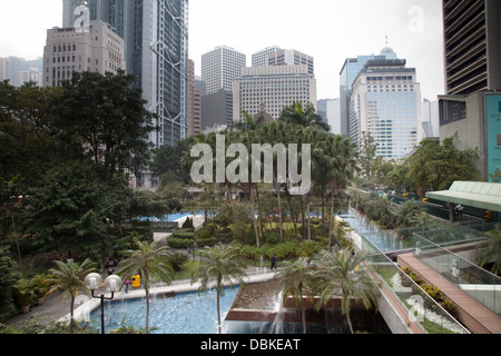 central district hong kong financial district - Stock Image