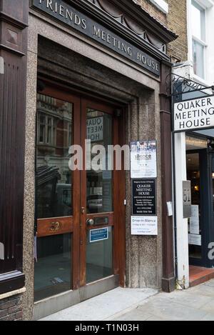 Friends Meeting House, a Quaker meeting establishment in St. Martin's Lane, Covent Garden, London, England, UK - Stock Image