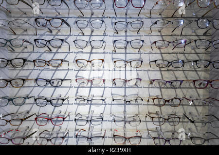 Eyeglass Display In Eye Doctor's Office - Stock Image