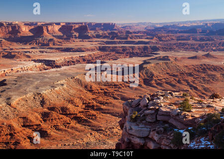 View from Dead Horse Point State Park near Canyonlands National Park, Utah USA - Stock Image