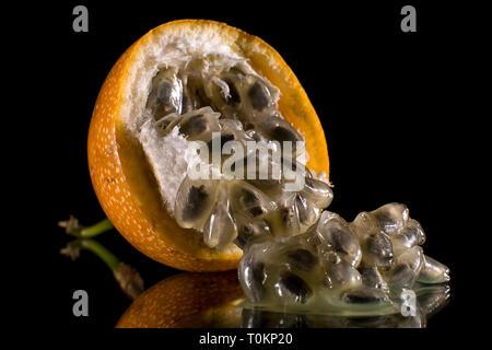 Passion fruit closeup - Stock Image