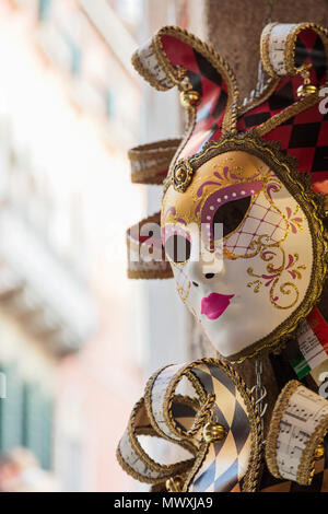 Venice Carnival, Venice, UNESCO World Heritage Site, Veneto, Italy, Europe - Stock Image