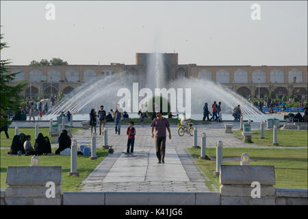 Naqsh-e Jahan Square, known as Imam Square is a popular square situated at the center of Isfahan, Iran - Stock Image
