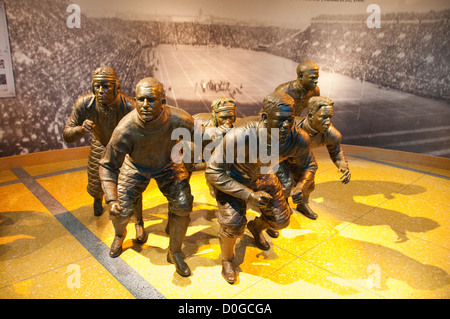 USA, Indiana, Indianapolis, Hall of Champions, National Collegiate Athletic Association Museum, Football Flying - Stock Image