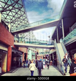 The Liverpool one shopping centre. - Stock Image