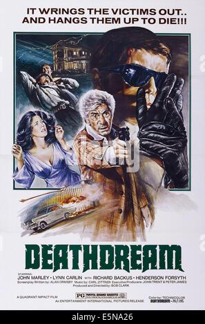 DEATHDREAM, (aka DEAD OF NIGHT), US poster art, John Marley (center), Richard Backus (right), 1972 - Stock Image