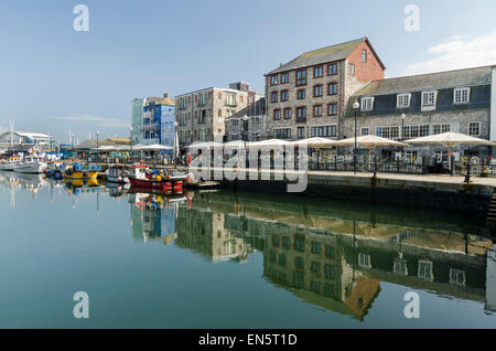 Plymouth The Barbican - Stock Image