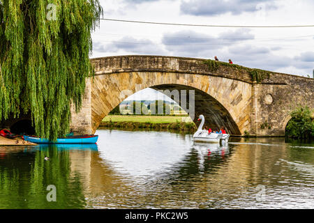 River Thames at Lechlade-on-Thames, Gloucestershire, UK. - Stock Image