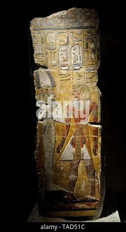 Egyptian painting. Altes Museum, Berlin - Stock Image