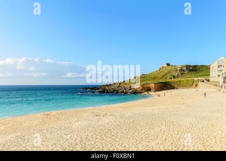Porthmeor Beach, St Ives, Cornwall, England, U.K. - Stock Image