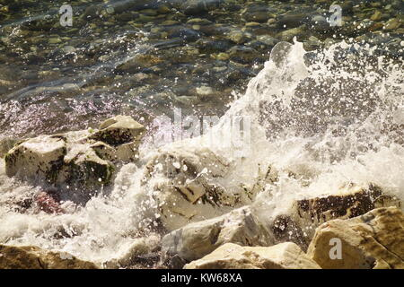 Wave,Puerto Banus,Marbella, Spain - Stock Image
