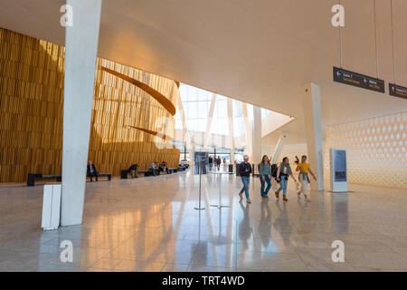 Opera House Oslo, view inside the foyer of the Oslo Opera House, Norway. - Stock Image