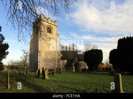 St Edmund's Church, South Burlingham, Norfolk - Stock Image