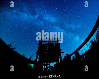 Starry night Vransko jezero Vrana lake Croatia - Stock Image