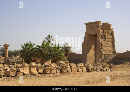 Part of the Temple of Karnak Complex, Luxor, Egypt. - Stock Image