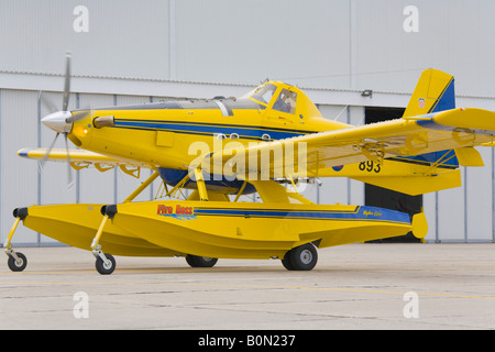 Air Tractor AT 802 A '893' Fire Boss taxi, Zemunik AFB, May 17, 2008 - Stock Image