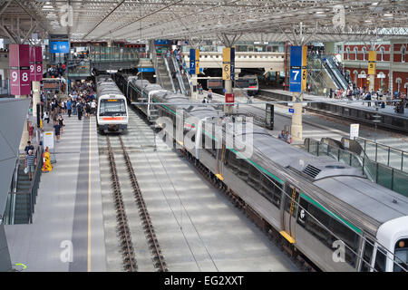 Perth's inner city train station, Western Australia - Stock Image
