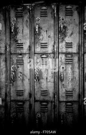 Locker room of the laborer - Stock Image