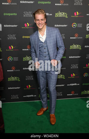 Sydney, Australia. 12th July 2019. Jack and the Beanstalk Giant 3D musical spectacular red carpet at the State Theatre. Pictured: Lachlan Dearing. Credit: Richard Milnes/Alamy Live News - Stock Image