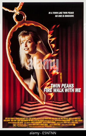 TWIN PEAKS: FIRE WALK WITH ME, US poster, Sheryl Lee, 1992, © New Line/courtesy Everett Collection - Stock Image