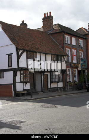 Typical Lathe and Plaster Building Henley on Thames Oxfordshire UK - Stock Image