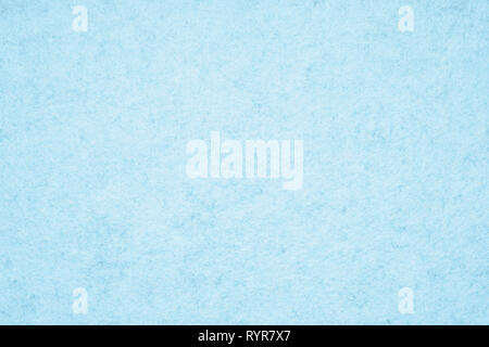 light blue felt background with fiber texture - Stock Image